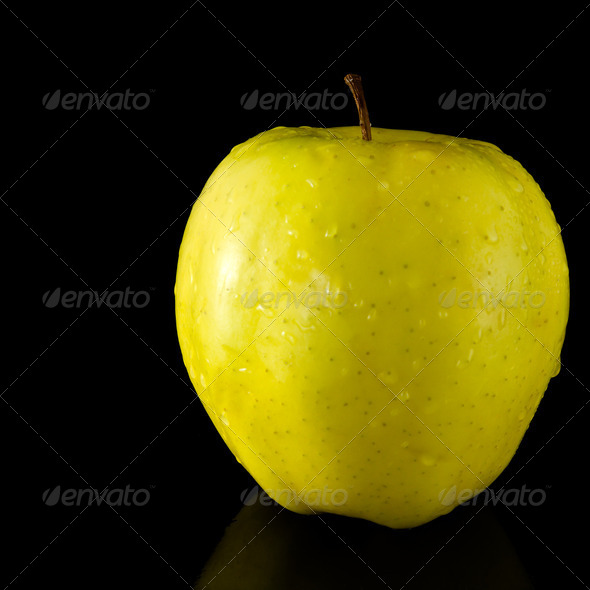 Yellow apple - Stock Photo - Images
