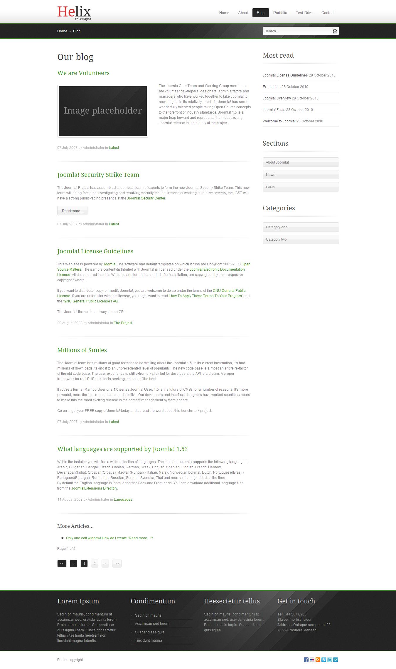 Helix - Joomla business template