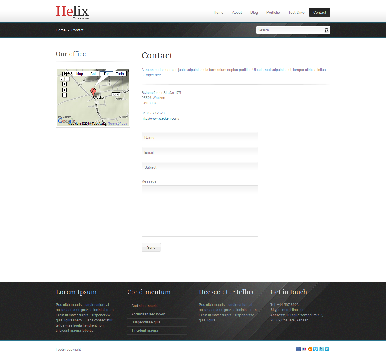 Helix - Joomla business template