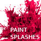 Variety of Isolated 3D Paint Splashes 2