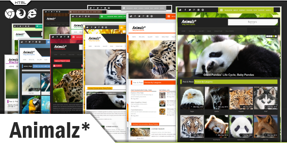 ThemeForest Animalz Eco Green Environmental HTML Template 3688479