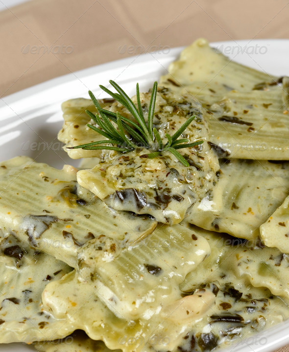 Spinach Pasta - Stock Photo - Images