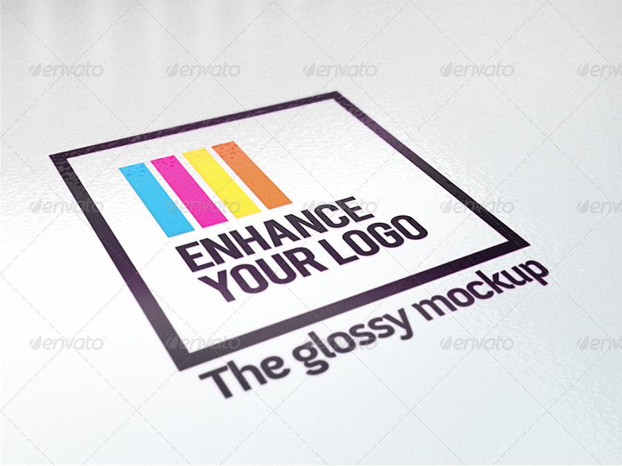 5 Realistic Logo Mockups - Smart Template V.2