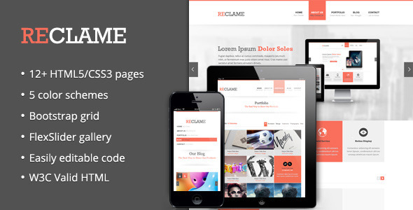 ThemeForest Reclame Business HTML Template 3760082
