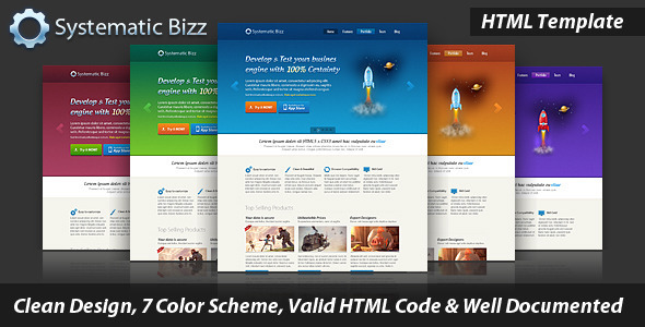 ThemeForest Systematic Bizz Professional Business HTML 3800430