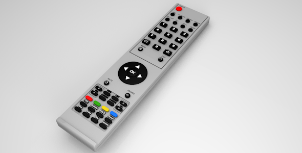 Realistic TV/Blu-ray/DVD etc. remote - 3DOcean Item for Sale