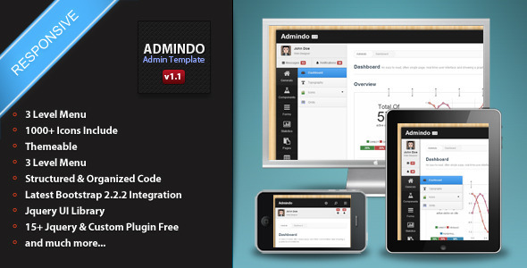 ThemeForest Admindo Responsive Admin Template 3781468