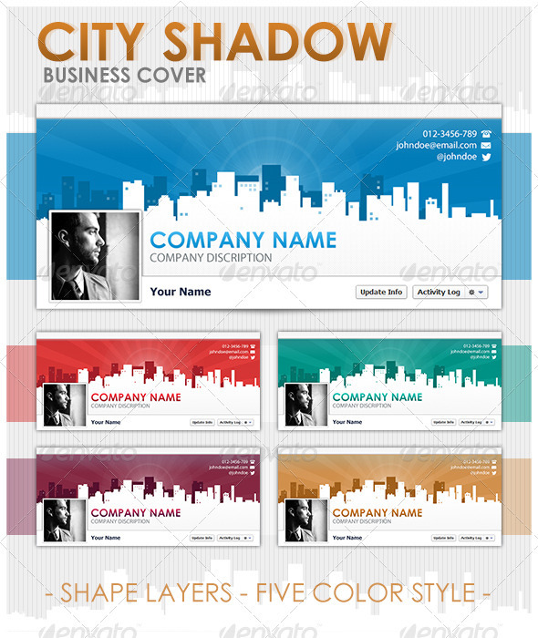 GraphicRiver FB Cover City Shadow 3814213