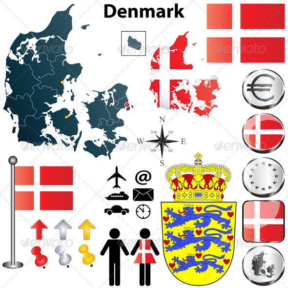 GraphicRiver Denmark Map 3814415