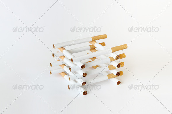 PhotoDune composition of cigarettes on white background 3814797