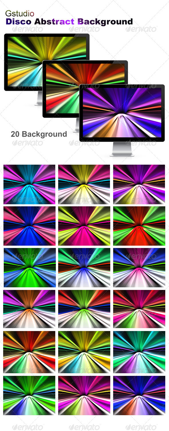GraphicRiver Gstudio Disco Abstract Background 3815012