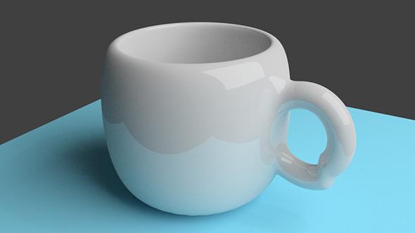 3DOcean White Ceramic Cup 3808876