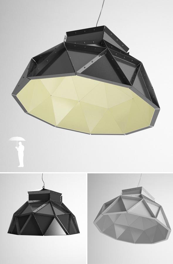 Dark Apollo pendent lamp - 3DOcean Item for Sale