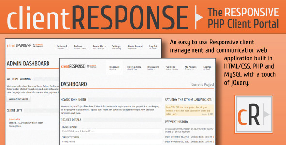 CodeCanyon clientResponse Responsive PHP Client Management 3797780