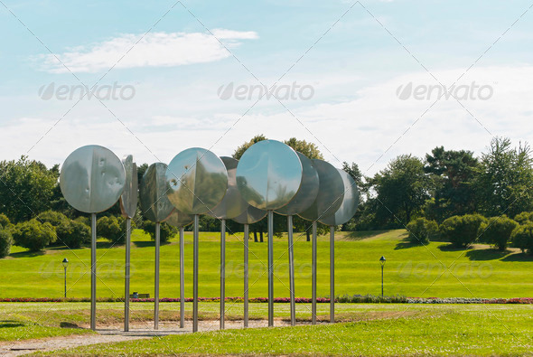 Rheinaue Park in Bonn - Stock Photo - Images