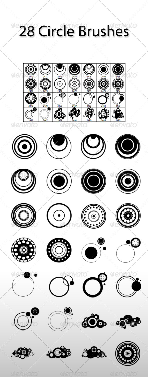 GraphicRiver 28 Circle Brushes 3730699