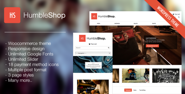 ThemeForest HumbleShop Minimal Wordpress eCommerce Theme 3817362