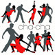Cha-cha Dancers Silhouettes Set - GraphicRiver Item for Sale