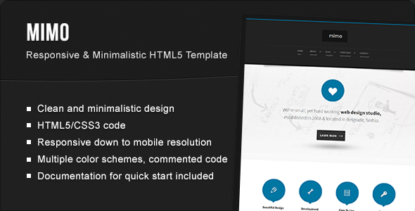ThemeForest Mimo Multi-Page Responsive HTML5 Template 3782623