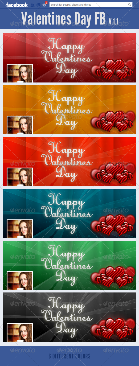 GraphicRiver Valentines Day FB V.1.1 3817443