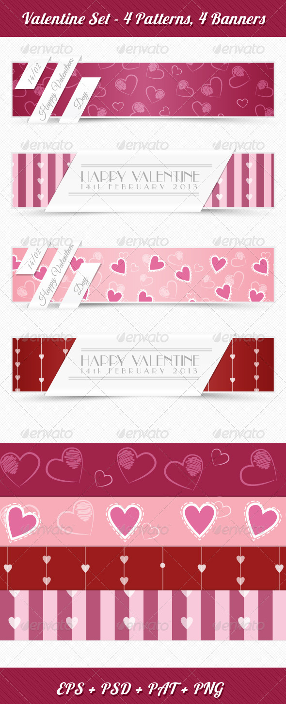 Valentine Set - Backgrounds Decorative