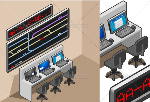 GraphicRiver Isometric Controll Center 3817706