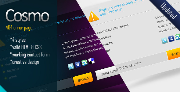 ThemeForest Cosmo Error Page 231825