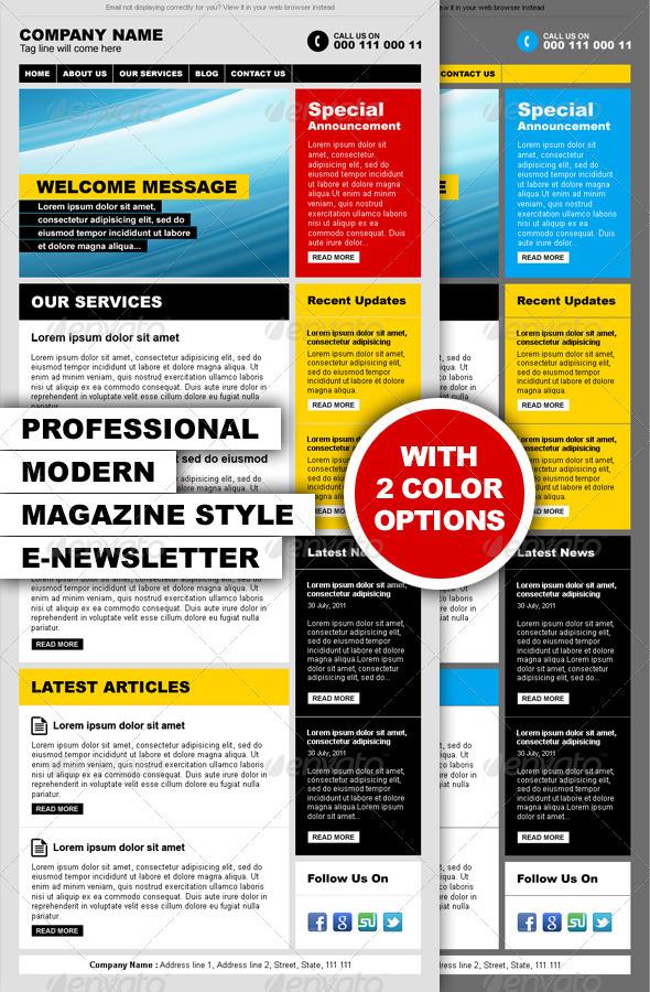 Professional magazine design for Modern newsletter design