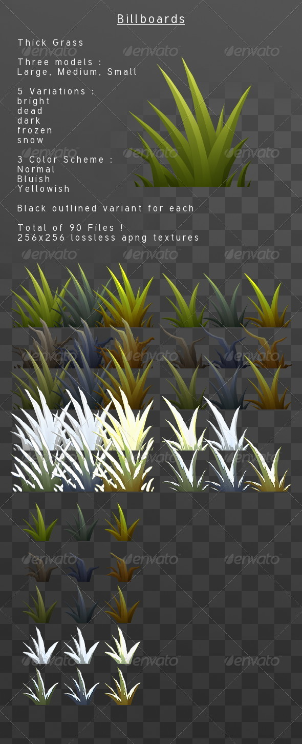 3DOcean ThickGrass billboard pack 3818562