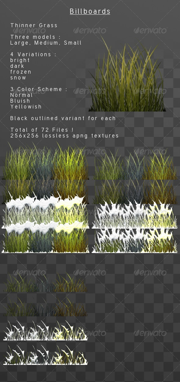 3DOcean ThinnerGrass billboard pack 3818603