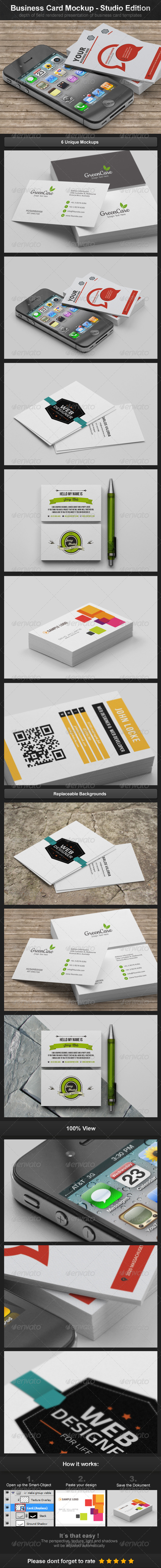 Business Card Mockups - Studio Edition - Business Cards Print