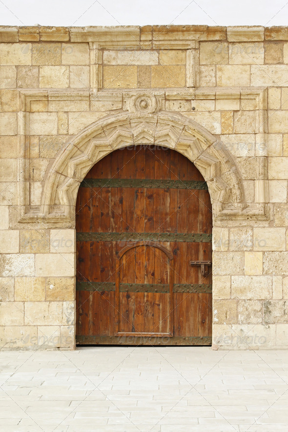 Medieval door - Stock Photo - Images