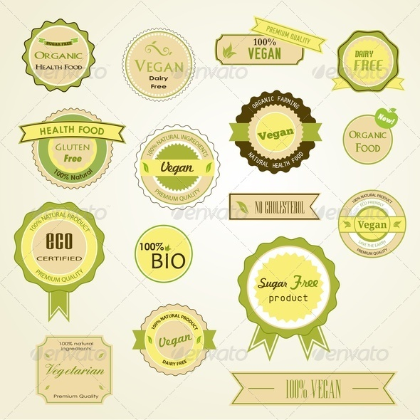 GraphicRiver Organic Labels Logos and Stickers 3820275
