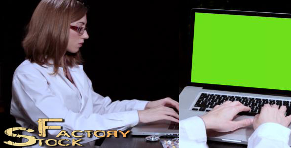 [VideoHive 3820546] Doctor With Her Laptop  | Stock Footage