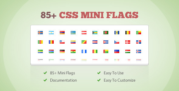 CodeCanyon 85& CSS Mini Flags 3820581