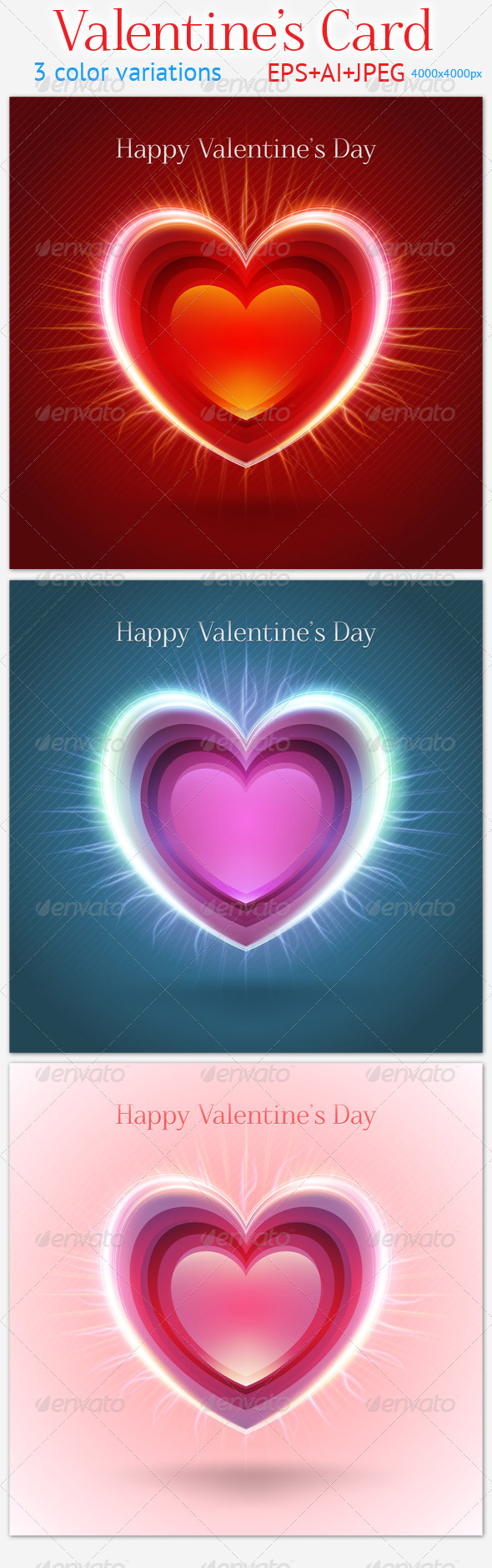 GraphicRiver Valentine s Card 3821354