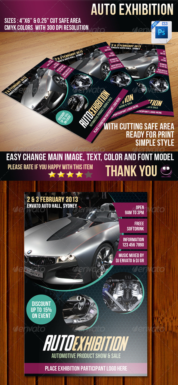 GraphicRiver Auto exhibition 3746465