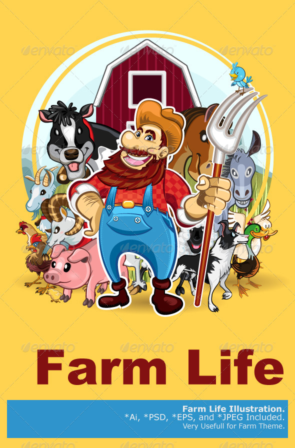 Farm Life - Animals Characters