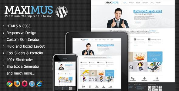 ThemeForest Maximus Responsive Multi-Purpose Wordpress Theme 3799626