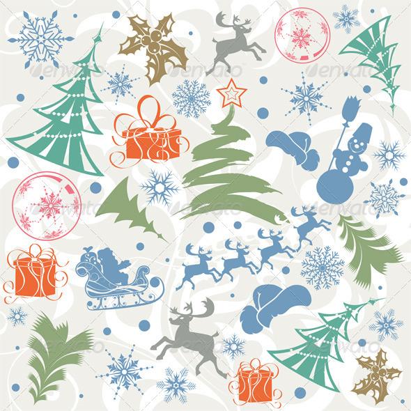 GraphicRiver Christmas background 411451