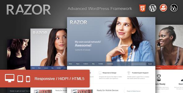 Razor: Cutting Edge WordPress Theme - BuddyPress WordPress