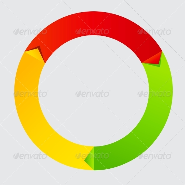 GraphicRiver Concept of colorful Time Wheel vector illustration 3822072