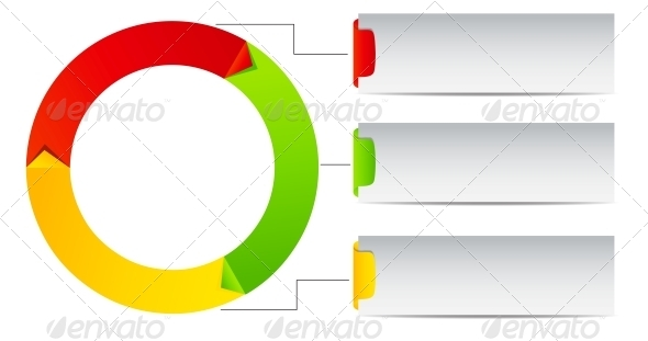 GraphicRiver Concept of colorful Time Wheel vector illustration 3822105