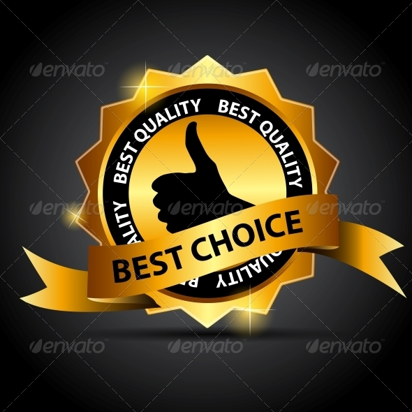GraphicRiver Vector Best Choice Label with Red Ribbon 3822193