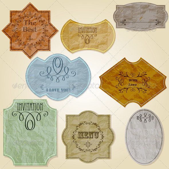 GraphicRiver Vector Retro Crumpled Papers 3822195