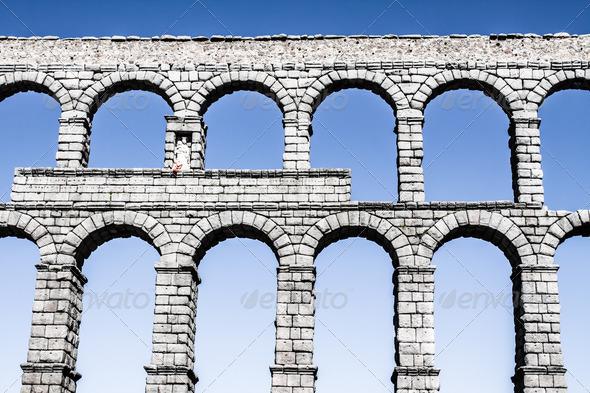 PhotoDune The famous ancient aqueduct in Segovia Castilla y Leon Spain 3822373