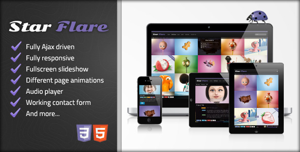 Star Flare - Ajax Portfolio Template - Creative Site Templates