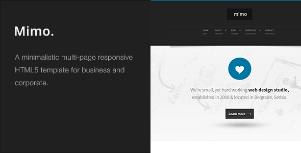 Mimo - Multi-Page Responsive HTML5 Template Download