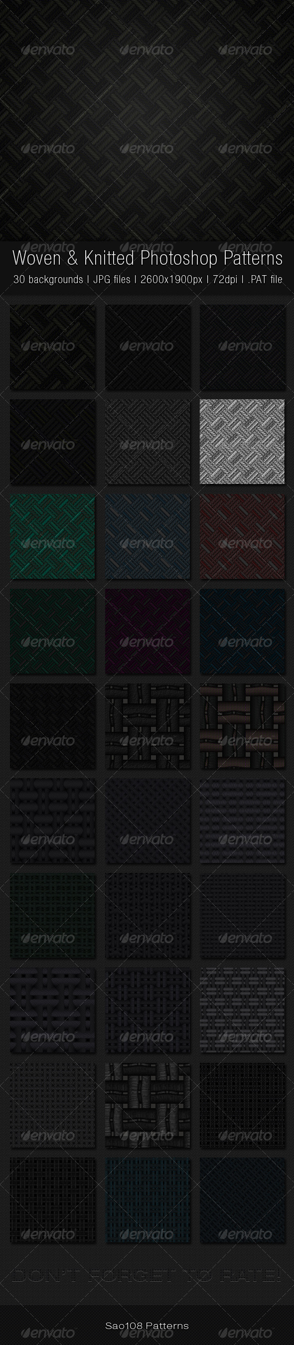 GraphicRiver Woven and Knitted Photoshop Patterns 3822760