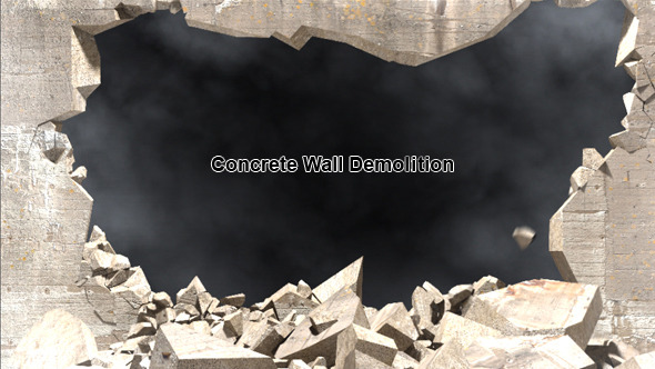 Demolition Concrete Wall : After effects project files concrete wall explode